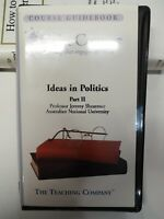 The Great Courses Ideas in Politics Part II Audio Book Cassette Teaching Company