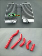 L&R YAMAHA YZF250 YZ250F YZ 250 F 2006 06 aluminium radiator and red hose
