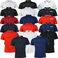 Tommy Hilfiger Golf Manches Courtes Uni Piqué Hommes T-Shirt Polo UA103