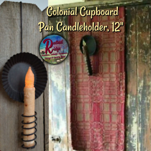 NEW!! Primitive Farmhouse Early American Colonial Cupboard Hanging Candle Holder