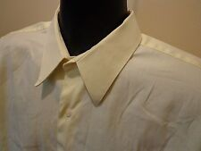 Men's Robert Villini Collezione Yellow Button Front Dress Shirt 16 1/2 32-33