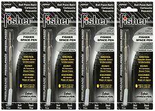 Four Fisher SPR Series Black Ink / Fine Point Refills #SPR4F