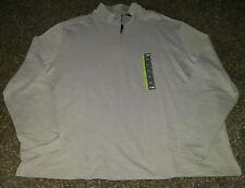 ! NWT MSRP $49 Mens JOHN BARTLETT Zip Neck Long Sleeve Shirt Gray 2XL XXL