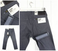 NEW LEE 101 RIDER GREY JEANS DRY DENIM SELVAGE TAPERED SLIM  FIT LUKE_ ALL SIZES