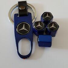 Mercedes rueda VÁLVULA POLVO GORRAS Aleación Llave Llavero En Caja Todos los modelos de una clase B