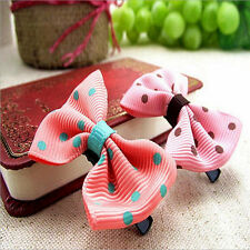 10PCS Girls Baby Kids Bows Snaps Hair Accessories Hair Clip Alligator Clips Gift