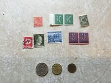 Germany 1939 1936  1932 2 Mark Silver coin 9 UNC STAMP HITLER & Swastika  LOT