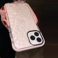 For iPhone 12 11 Pro Max mini Clear Case Cute Shockproof Diamond Soft TPU Cover