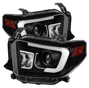 Spyder Projector Headlights - Light Bar DRL - Black #5080158 for 2014-18 Tundra