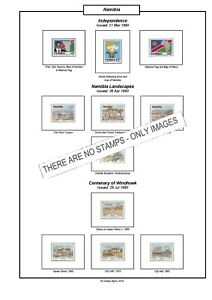Print a Namibia Stamp Album, fully illustrated and annotated