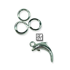 """Piercing """"Delphin"""" silber / Nagelschmuck Nagelpiercing Fingernagel Anhänger"""