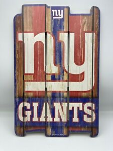 New York Giants Sign 11x17 Wood Fence Style **Read description