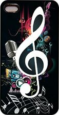 For Apple IPhone 4s 5s  7 Music Clef Note Colorful Rubber Phone Case Cover