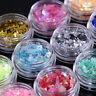 12 Colors Nail Art Iced Mylar Glitter Powder Acrylic UV Gel Tips Decoration DIY