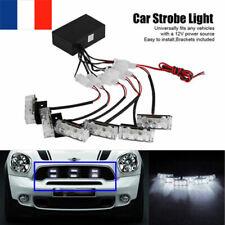 18-LED White Lumière Flash Stroboscope Strobe Clignotant Alerte Voiture Lampe