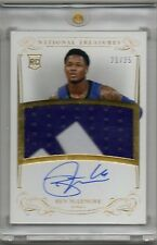 2013-14 Ben McLemore National Treasures #118 GOLD AUTO PATCH RC #D 21/25 (L85)