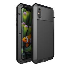 Aluminum Metal Shockproof Waterproof Glass Case Cover iPhone XS Max X 8 7 6 Plus