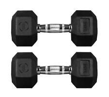 Hex Dumbbells Hexagonal Rubber Encased Ergo Weights Sets Gym Set Fitness Weight 35kg Pair