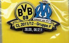 BVB Begegnungs Pin BVB- Olympique Marseille  CL   NEU
