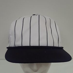 NEW Nissin Cap Hat Baseball Black White Pin Stripe PSTGG- 003