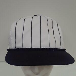 NEW Nissin Cap Hat Baseball Black White Pin Stripe PSTGG- 003