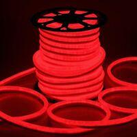 DELight® 150' FT Red LED Neon Rope Light Flex Tube Sign Holiday Decor. Lighting