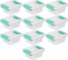 3 Stackable Sterilite Mini Clip Box Storage Container Clear,No 19698606,
