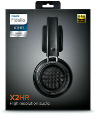 £350 PHILIPS GIBSON FIDELIO X2HR HD HI-RES AUDIO 50MM DRIVERS LEATHER HEADPHONES