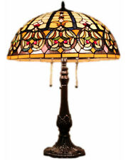 """Tiffany Style Stained Glass Lamp """"Granduer"""" w/ 20"""" Shade"""