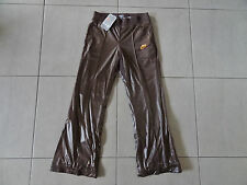 New With Tags Womens Nike Athletic Pants - Size Medium, Brown With Gold Trim.