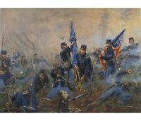 """""""Three Medals of Honor-Battle of New Market Heights"""" Don Troiani Civil War Print"""
