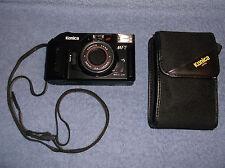 VINTAGE KONICA MT-7 35MM CAMERA W/ 36MM LENS F4 CARRYING STRAP & CASE 1986 JAPN