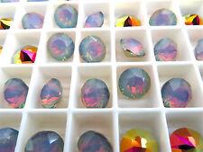 6 White Opal Volcano Swarovski Crystal Chaton Stone 1088 39ss 8mm