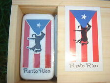 Dominoes with Puerto Rico Flag