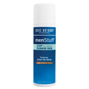 Marc Anthony MenStuff Mens Thinning Hair Cover Up Light To Medium Brown 1.5 oz