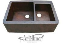 Ariellina Farmhouse 14 Gauge Copper Kitchen Sink Lifetime Warranty New AC1802