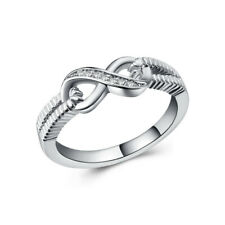 18K Gold Plated Zirconia Twist Infinite Simplicity Ring for Women Jewelry Gifts