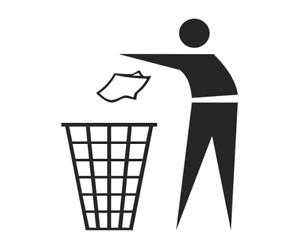 Müllschlucker Mülleimer Aufkleber Sticker Wandtattoo A 989