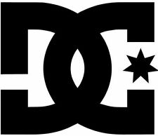 DC SHOES VINYL STICKER (9cm, BLACK) WINDOW, CAR, SKATE, SURF, DECAL