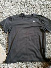 Nike mens Dri Fit black Heathered Tshirt 100% polyester