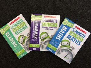 Scholastic 10 Minute SATs Tests Set - Reading, Grammar, Maths Year 3 KS2