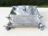 Victorian Silver Plate Cut Glass Butter/Sardine Dish, Daniel & Arter - Dresser