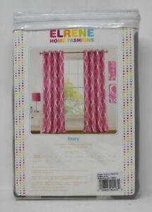 Emery Juvenile Geometric Blackout Grommet Single Curtain Panel Gray
