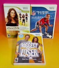 NFL Training, Biggest Loser, Jillian Fitness 2009 - Nintendo Wii / Wii U 3 Games