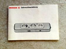 MINOX C  Anleitung - Text.deutsch - Classic-Camera-STORE