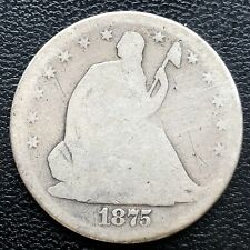 1875 S Seated Liberty Half Dollar 50c MICRO S VERY RARE VARIETY WB-105 #18290
