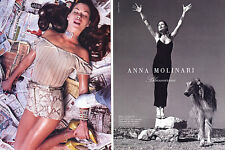 1995 Blumarine Helmut Newton Anna Molinari Carre Otis 2-page MAGAZINE AD