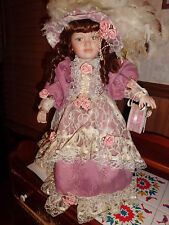 "Little Companion by William Tung Lois 23"" tall porcelain doll free shipping"