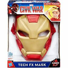 Marvel Captain America: Civil War Iron Man Tech FX Mask- Brand New Item