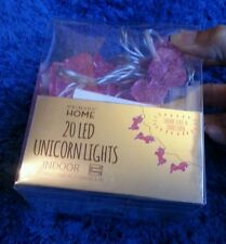 UNICORN LED Lights Primark Pink 20 LED Indoor Fairy Lights 3.15M Battery NEW